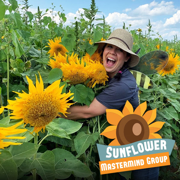 Sunflower Festival Mastermind Group - huge sunflowers